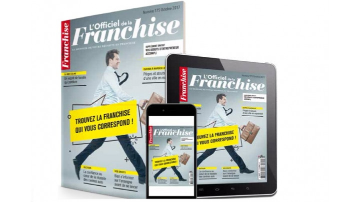 photo couverture Campagne publicitaire au sein du magazine L'Officiel de la Franchise