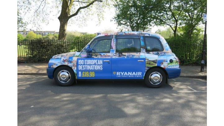 photo couverture Pub sur taxis londoniens ( Londres et UK)