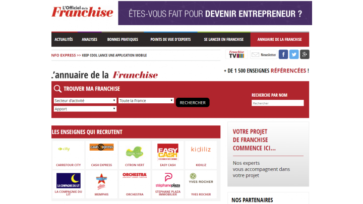 photo couverture Annuaire de la Franchise