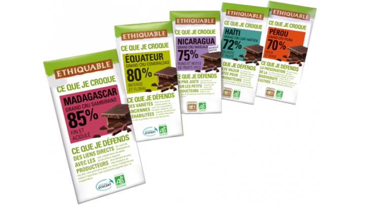 photo couverture Tablettes de chocolat bio & équitable