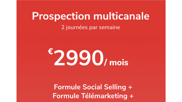 photo couverture Prospection multicanale - 2j / semaine