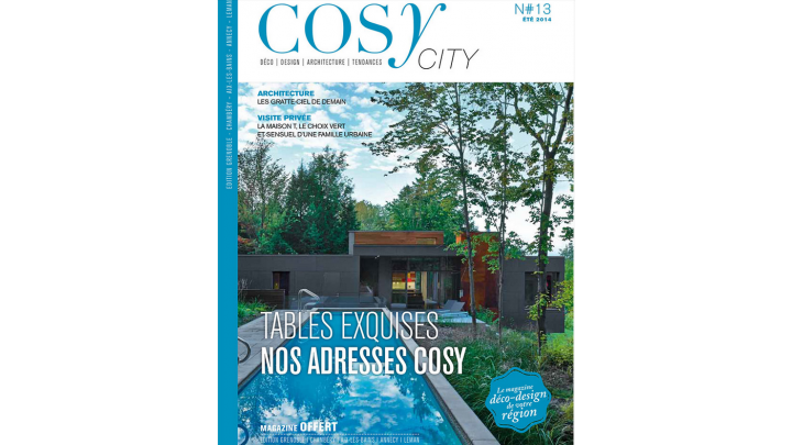 photo couverture PARUTION PRESSE MAGAZINE COSY CITY